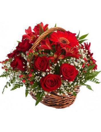 Корзина Страсть цветов