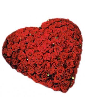 Мое сердце - букет из 101 розы